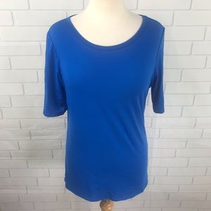LulaRoe Irma blue stretch t shirt
